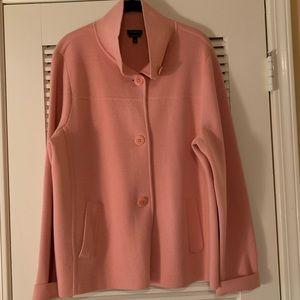 Talbots Merino Wool Peach Sweater Jacket